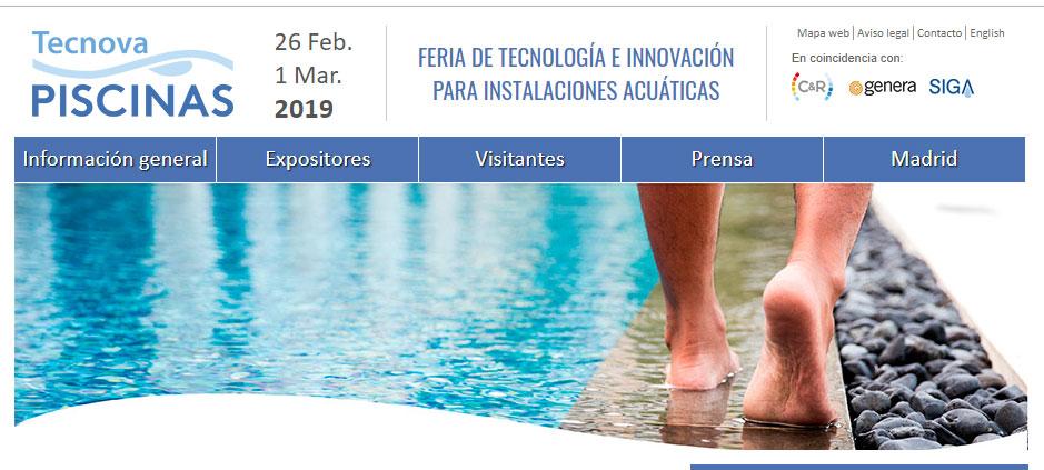 Feria Tecnova piscinas Constructora Lopez Domenech. Ferias para la Construcción